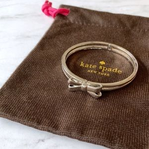 kate spade Jewelry - Kate Spade Silver Bow Bangle